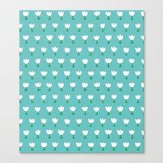 Spring Tulips - Blue Canvas Print