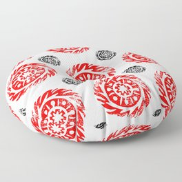Sun mandala pattern Floor Pillow