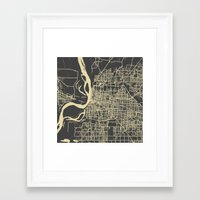 memphis Framed Art Prints featuring Memphis map by Map Map Maps