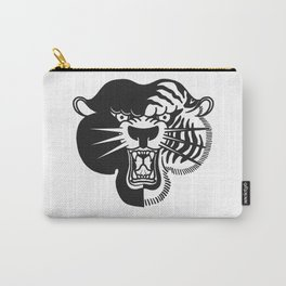 Half Tiger Half Panther Carry-All Pouch