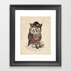 Strange Owl Framed Art Print