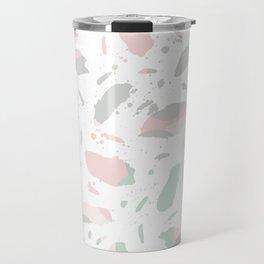 Alexandre - abstract minimal modern painting splash dots stripes painterly art Travel Mug
