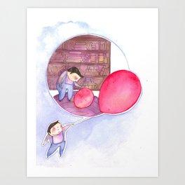 Billy's Balloon 02 Art Print