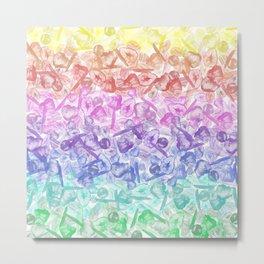 Crystal Gemstone Background Pattern - Geodes + Quartz Points Metal Print