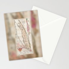 Long Island New York 1842 Mather Map Stationery Cards