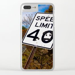 Speed Limit 40 Clear iPhone Case