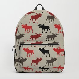 Bull Moose Pattern Backpack