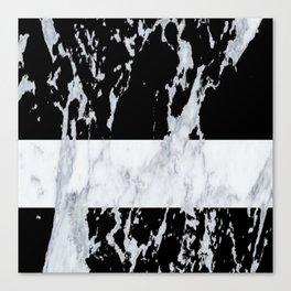 Black marble Canvas Print