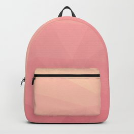 salmon pink polygon Backpack