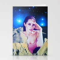 angelina jolie Stationery Cards featuring Angelina Jolie by John Turck