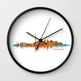 Toronto Canada City Skyline Hq v02 Wall Clock