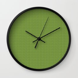 Knitted spring colors - Pantone Greenery Wall Clock