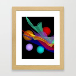 waves on black -03- Framed Art Print