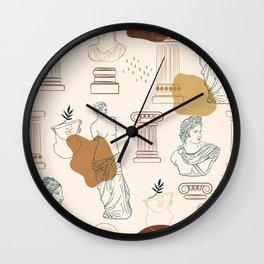 Ancient Greek Gods-Pattern Wall Clock