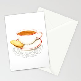 Cup of Tea and a biscuit Stationery Cards