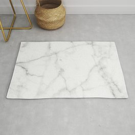 Pure Solid White Marble Stone All Over Rug