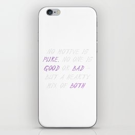 Carrie Fisher Motive Quote iPhone Skin