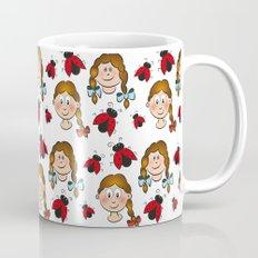 Girls and ladybirds pattern Mug