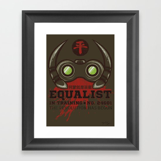 Equalist in Training Framed Art Print