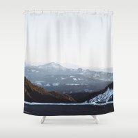 subaru Shower Curtains featuring Siskiyou Mountains by K Creative