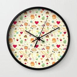 Cake Pattern Wall Clock