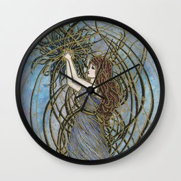 Dark Nebula Wall Clock