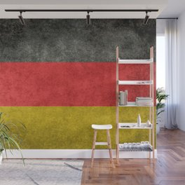 German National flag, Vintage retro patina Wall Mural