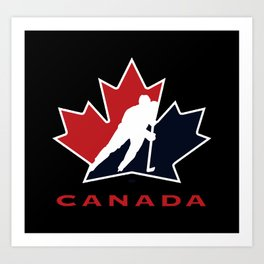 canada national team hockey Art Print