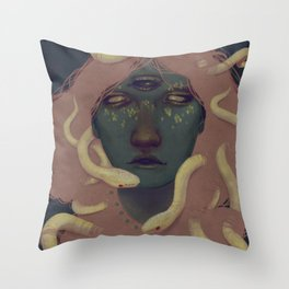 of witches and pets Throw Pillow