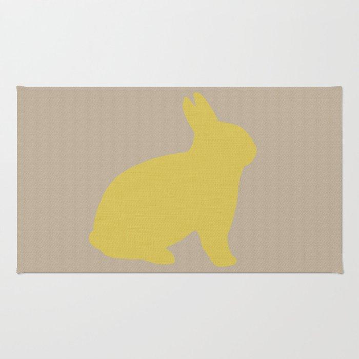 Cute Yellow Bunny Rug