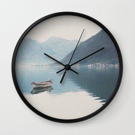 boat reflections ... Wall Clock