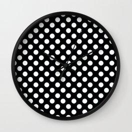 Black & White Classic Polka Dots Pin Up Wall Clock