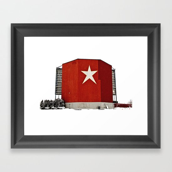 Star-Lite snow Framed Art Print