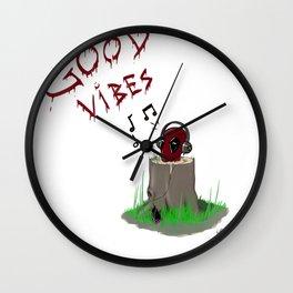 Dp's Good Vibes Wall Clock