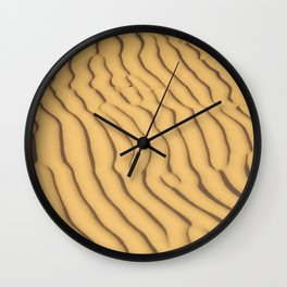sand ripples Wall Clock