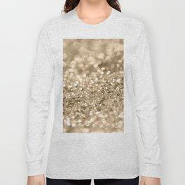Champagne Gold Lady Glitter #2 #shiny #decor #art #society6 Long Sleeve T-shirt