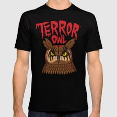 Terror Owl Black SMALL Mens Fitted Tee