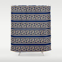 greek Shower Curtains featuring Greek by Mr and Mrs Quirynen