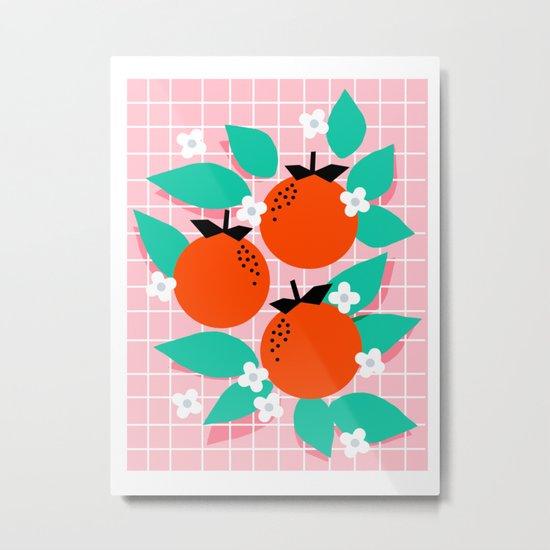 Bodacious - modern abstract minimal 1980s throwback memphis design trendy palm springs art Metal Print