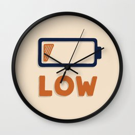 Low battery Wall Clock