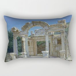 Ephesus. Ruins. Temple of Hadrian Rectangular Pillow
