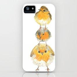 Robin Trio illustration Birds iPhone Case