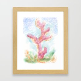coral bleaching Framed Art Print
