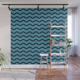 Simple Wave Lines Wall Mural