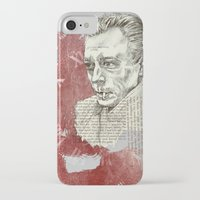 camus iPhone & iPod Cases featuring Camus - The Stranger by Nina Palumbo Illustration
