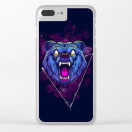 Frenzy Bear Clear iPhone Case