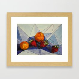 Clementines and Strawberries Framed Art Print