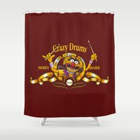 drums Shower Curtains featuring Crazy Drums by ikado