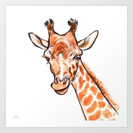 Cami the Giraffe  Art Print