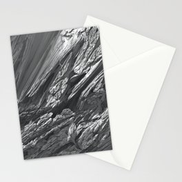 Fractal Snow Stationery Cards